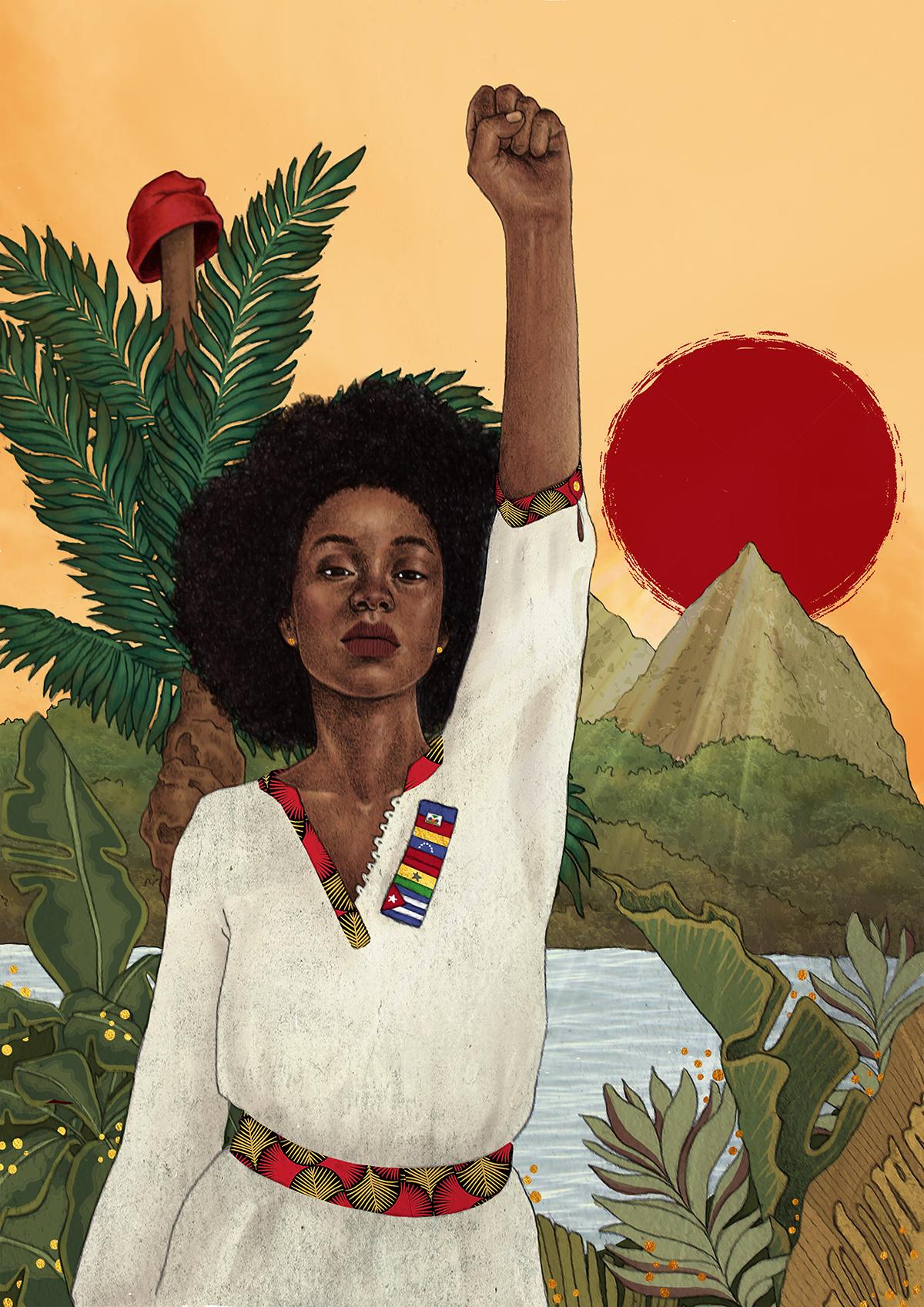 Afreemerika – Illustration par Marie Mougniotte.